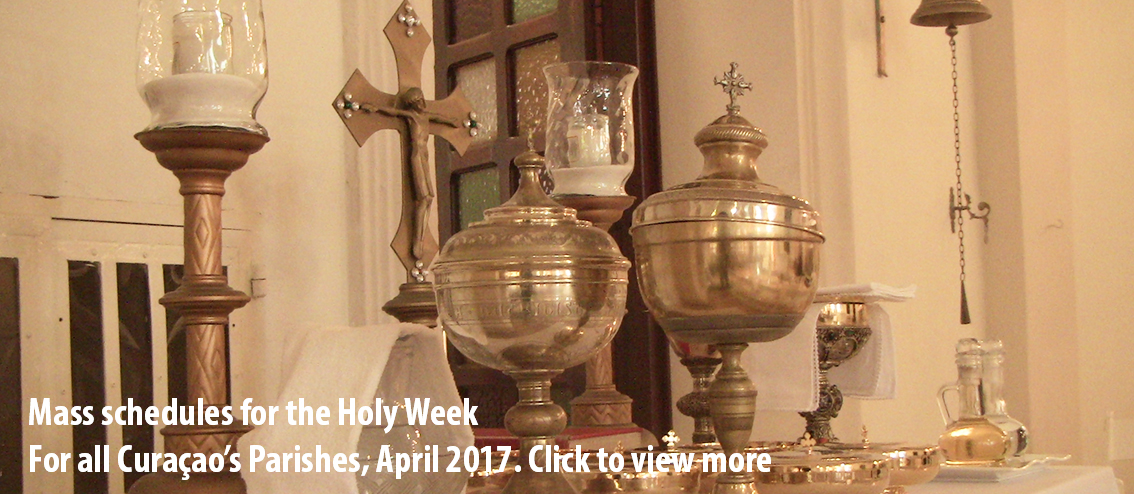 Mass schedules for the Holy Week for all Curaçao's Parishes